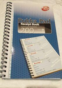 PUKKA PAD WIREBOUND Carbonless DUPLICATE RECEIPT BOOK 200 Receipts NCR
