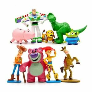 9pcs Cute Toy Story Woody Buzz Jessie Hamm Bullseye Rex Bear Action Figures Toy