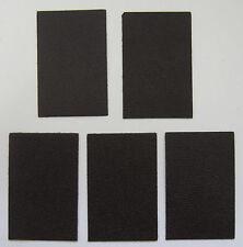 5 MORCEAUX CUIR DE VEAU GRAIN CHEVRE MARRON FONCE 8.50 x 5.50 cm 1° CHOIX