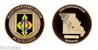 ARMY FORT LEONARD WOOD  MANEUVER SUPPORT CENTER  OF EXCELLENCE  CHALLENGE COIN