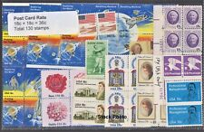 US Postage Post Card Rate - 65 cards (130 x 18 cent stamps) Below Face, Unused