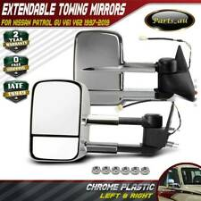 Chrome Extendable Towing Mirrors for NISSAN PATROL GU Y60/Y61/Y62 97 on