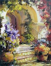 """Betty Carr, """"Fragrant Entry, 24""""h x 18""""w image, 27""""h x 20""""w overall, poster"""