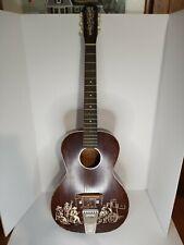 VINTAGE 1950's Old Kraftsman Prairie Rambler Acoustic Parlor Guitar