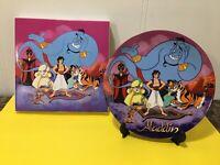 """Classic Walt Disney's Aladdin Commemorative Collector Plate """"Aladdin"""" in Box"""