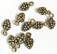 100 pcs of antique brass  pinecone charm 13x7mm