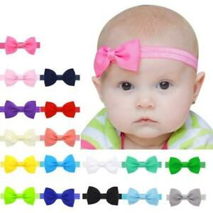 Infant Toddler NewBorn Baby Kids Girls Mini Bowknot Hairband Elastic Headband