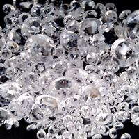 2000 x Clear Wedding Scatter Crystals Decoration Diamond Confetti Assorted Sizes