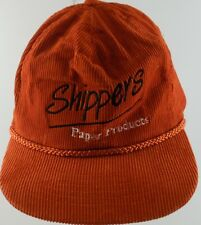 Shippers Paper Products Adjustable Cap Hat Red White Black Corduroy