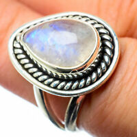 Rainbow Moonstone 925 Sterling Silver Ring Size 6.75 Ana Co Jewelry R27673F