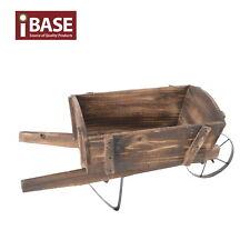 Wheelbarrow Antique Garden Decor Wooden Planter Outdoor Vintage Wood Timber