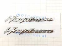 New Hayabusa Raised 3D Chrome Suzuki GSXR GSX1300R Silver Decal Sticker Bling