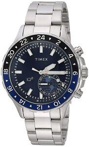 Timex TW2R39700 IQ+ Move Men'sSmart Watch Stainless Steel Bracelet