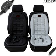 AUDEW 12V Heated Car Seat Cushion Warmer Cover w/ 3-Way Temperature Controller