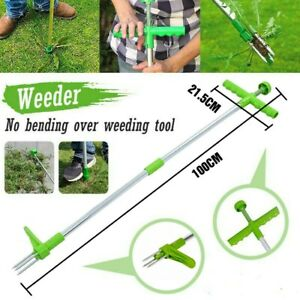 Standing Plant Root Remover-Outdoor Family Yard Garden Weed Puller Tool
