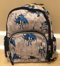NEW Pottery Barn Kids BATMAN Mini Pre-K Backpack GRAY BLUE
