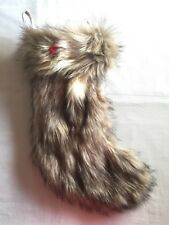 "Thick Faux Fur 21"" Christmas Stocking Lined Soft & Plush Wondershop Target NWT"