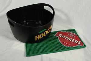 Hooch Ice Bucket Beer Tub + Gaymers Bar Runner Home Pub Bar Man Cave Summer BBQ
