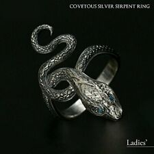 Dark Soul × TORCH TORCH Ring Collection Greedy Silver Snake Ring new