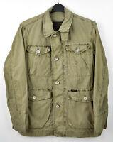 MARLBORO CLASSICS Men Medium Classic Field Jacket 100% Cotton Shirt Outside M