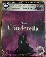 Cinderella SteelBook Signature Collection Digital Copy Blu-ray DVD Best Buy