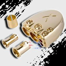 POSITIVE NEGATIVE GOLD PLATED CAR MARINE STEREO BATTERY TERMINAL CLAMP 12 VOLT