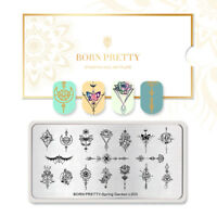 BORN PRETTY Nail Art Stamping Plates Flower Arrow Nail Art Image Templates