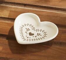 Rustic Shabby Chic Floral Heart Ceramic Tea Bag Holder Teabag Tidy Spoon Rest