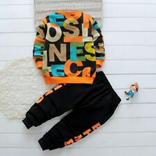 Autumn Long Sleeve Baby Boys Tracksuit Casual Lettersx Children Clothes Sweater