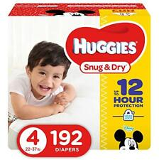 HUGGIES Snug & Dry Baby Disposable Diapers, Size 4, One Month Supply (192 Count)
