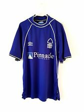 NOTTINGHAM FOREST Away Camicia 1999. medio. ADIDAS. Viola Adulti M FOOTBALL Top