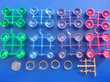 PICK 1 Wire Rims 80 / 100 Spoke 2 Tone Green Purple Red Blue Hub Gold Rings 1/24