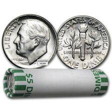 90% Silver Roosevelt Dimes 50-Coin Roll BU - SKU #22018