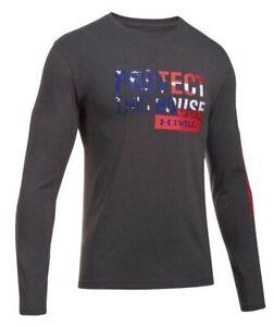 [1302218-019] New Men's UNDER ARMOUR UA Freedom PTH Flag Long Sleeve Shirt