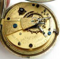 1902 F RIECHELMANN, MACKAY JEWELLER AUSTRALIA STERLING SILVER POCKET WATCH.