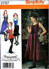 Dress Gothic Couture Punk Miss 14 16 18 20 22 Sewing Pattern New SIMPLICITY 2757