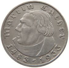 GERMANY 2 MARK 1933 A LUTHER #t140 693