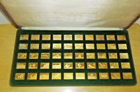 FRANKLIN MINT SILVER OFFICIAL DUCK STAMPS OF AMERICA 24 Kt GOLD ELECTROPLATED