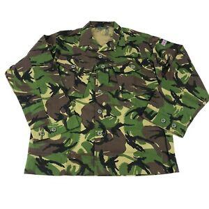 British Lightweight Woodland DPM Combat Top, Military Uniform Coat, Size 180/104