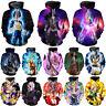 Dragon Ball Z Print 3D Hoodies Women Men Goku Super Saiyan Casual Sweatshirt New