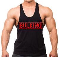 Bulking Stringer Tank Top shirt Beast muscle gym bodybuilding weightlifting V108