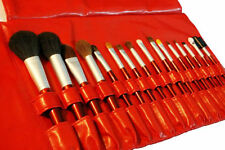 16 pcs red Cosmetic brushes Makeup Beauty Professionl red vinyl case set pouch