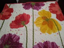 PDK Worldwide Quilted Flower Bouquet Standard Sham NWOT