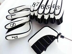 11 x Ultimate Golf Iron Head Covers Black suit Ping, Titleist, Callaway, Mizuno,