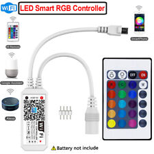 ✅Smart RGB LED Light Strip Controller Wifi Music Control with Alexa Google Home