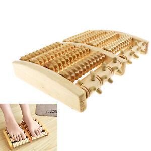 Foot Roller Dual Massager Wooden Plantar Fasciitis Pain Relief Stress Feet Relax