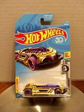 2018 Hot Wheels #209 Super Chromes 6/10 X-STEAM Gold w/Purple 5 Spoke 50th Ann