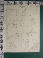 1808 Datato Antico Stampa ~ Astronomia Comet Vari Diagrammi