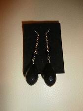 Chain Earrings Bnib Avon Black Bead &