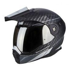 Casco modulare enduro moto Scorpion ADX-1 Dual black black silver Taglia Size XL